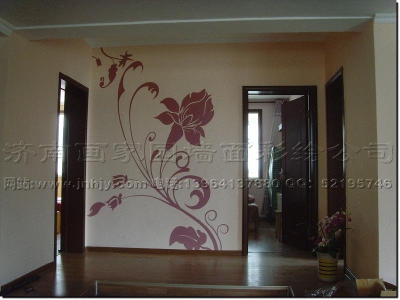 玄关走廊效果图--山东济南画家园墙面彩绘艺术装饰网