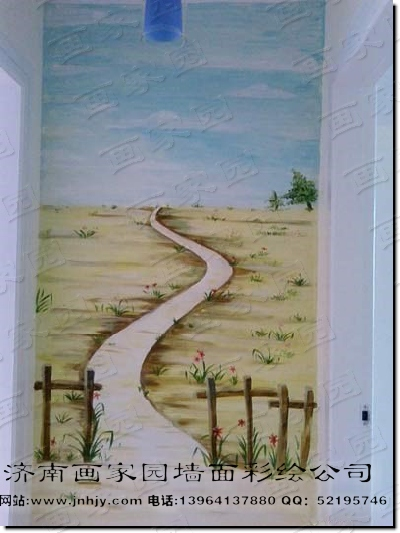 玄关手绘墙