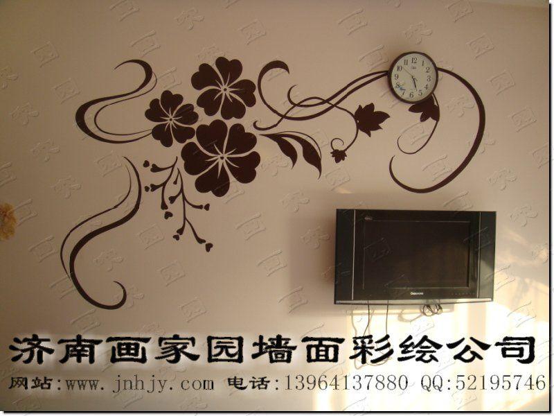 影视墙手绘