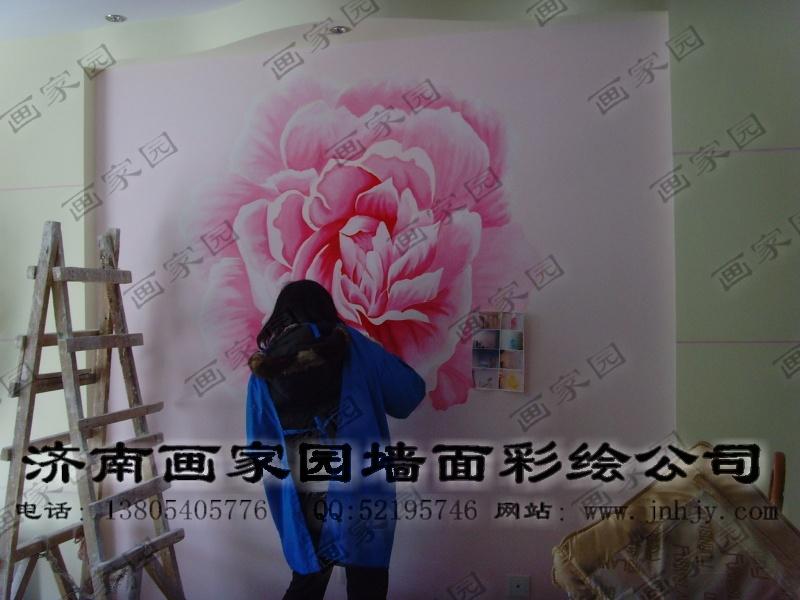 影视墙彩绘