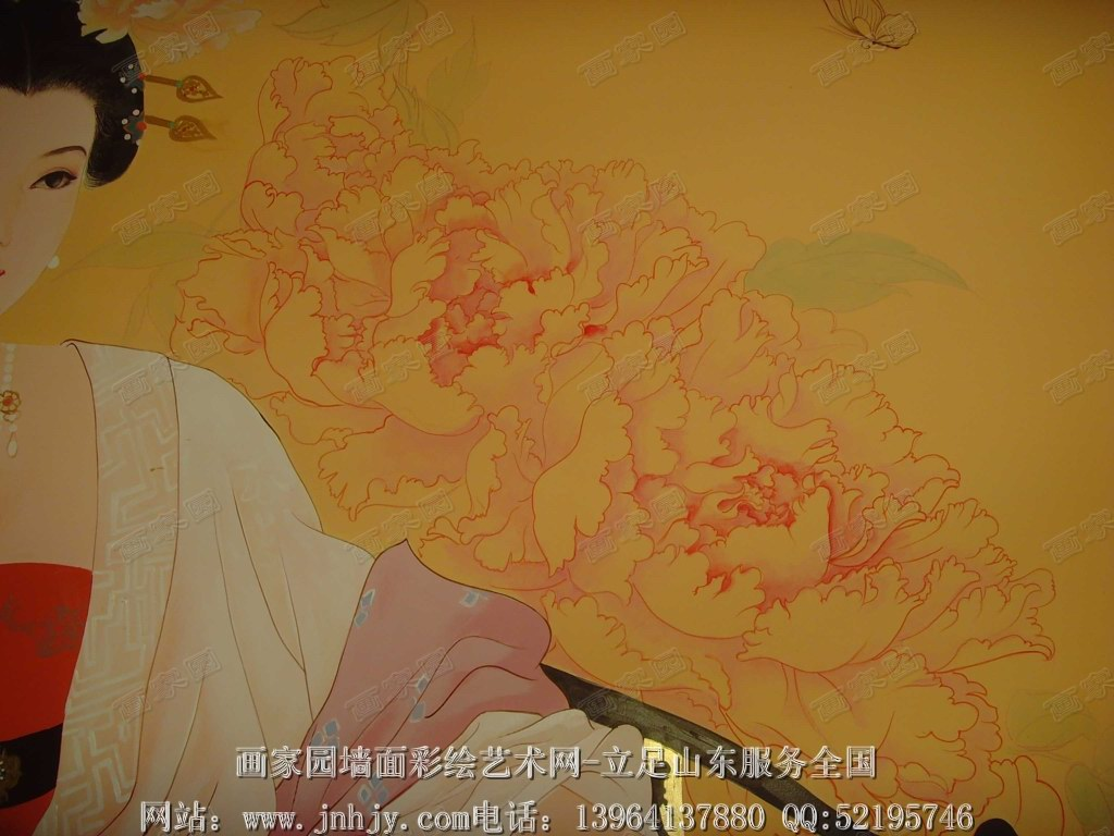 赵经国工笔侍女图