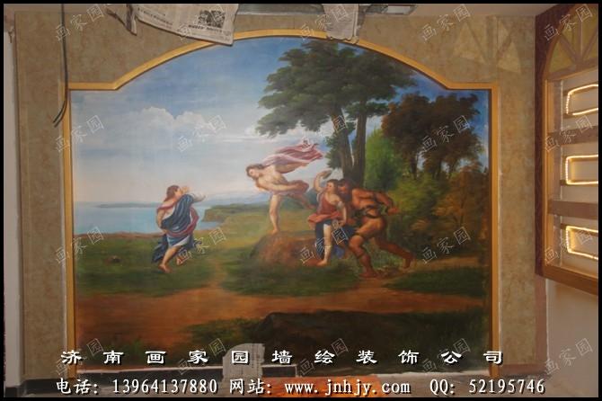 ktv墙面彩绘图