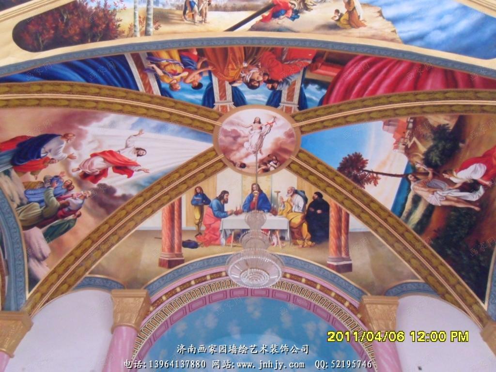 教堂壁画图片