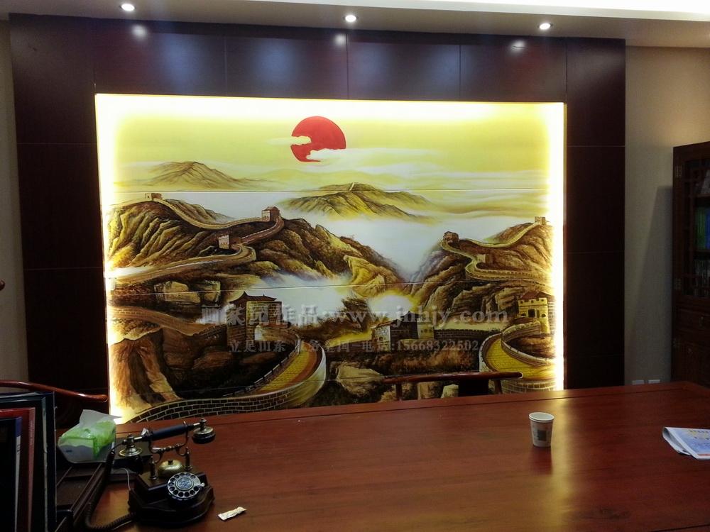 办公室背景画
