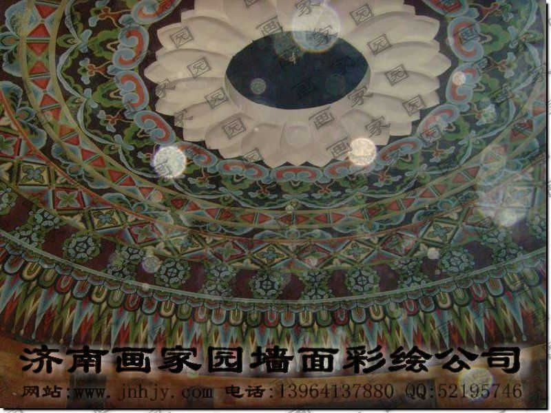 穹顶手绘图片
