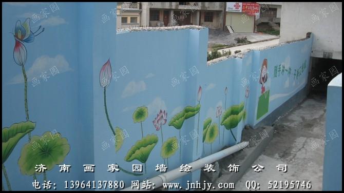 于手绘墙的艺术装饰与设计,墙绘应用之广泛: 学校墙绘, 校园手绘墙