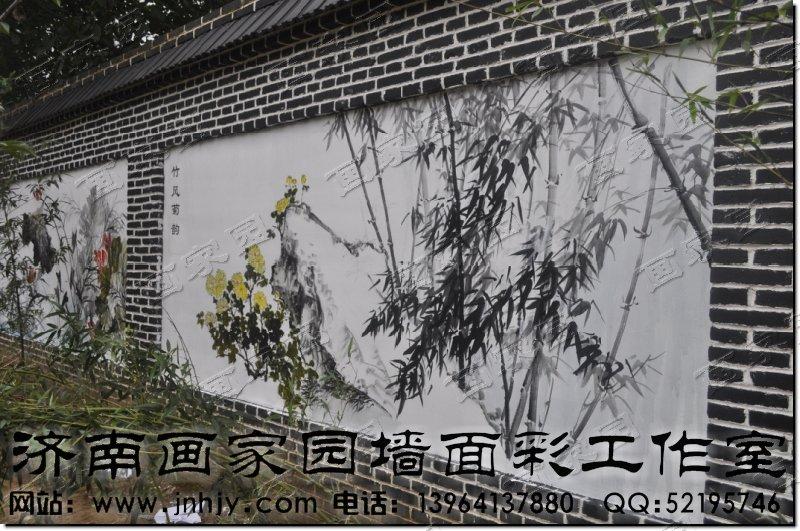 建筑工地墙围子绘画; 墙面彩绘|墙体彩绘|济南画家园墙面彩绘公司